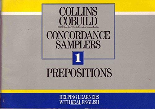 9780003709360: Collins COBUILD Concordance Samplers: Prepositions Bk. 1