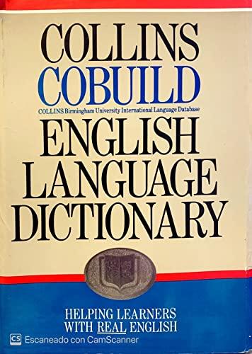 9780003750218: Collins COBUILD English Language Dictionary (Collins Cobuild dictionaries)