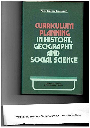 9780003800029: Curriculum Planning (Place, time and society, 8-13)