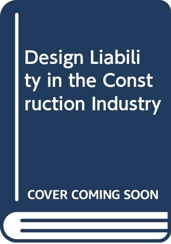 9780003830200: Design Liability in the Construction Industry