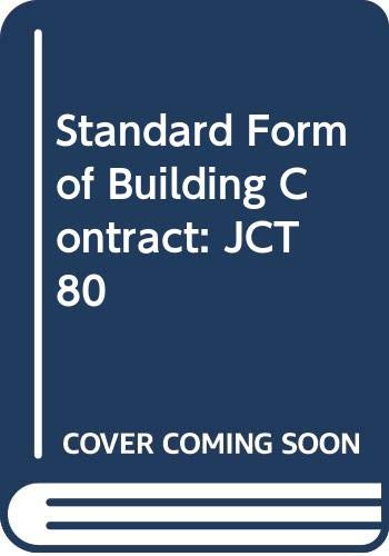 9780003830279: Standard Form of Building Contract: JCT 80