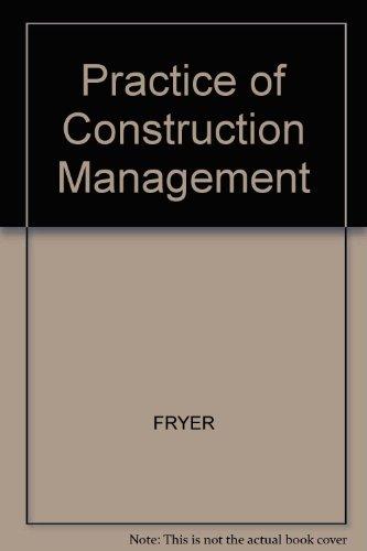 9780003830309: Practice of Construction Management