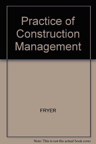 9780003830309: Practice of Construction Management