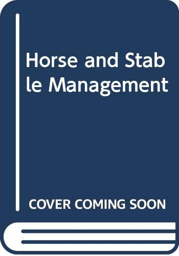 9780003831696: Horse and Stable Management