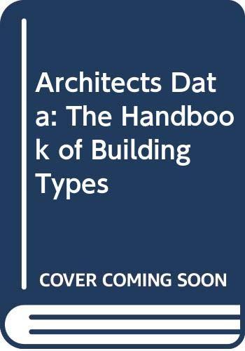 9780003831924: Neufert Architects' Data: The Handbook of Building Types (Second International Edition)