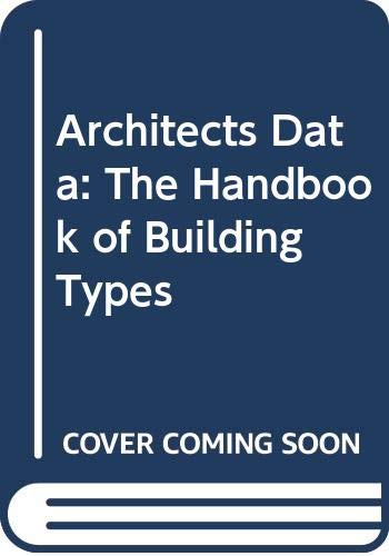 9780003831924: Neufert Architects' Data: The Handbook of Building Types (Second International Edition)
