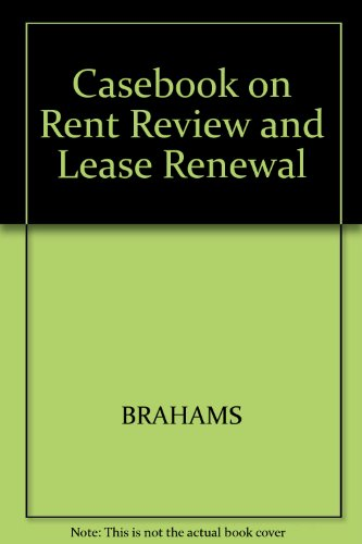 9780003831955: Casebook on Rent Review and Lease Renewal