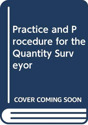9780003832372: Practice and Procedure for the Quantity Surveyor