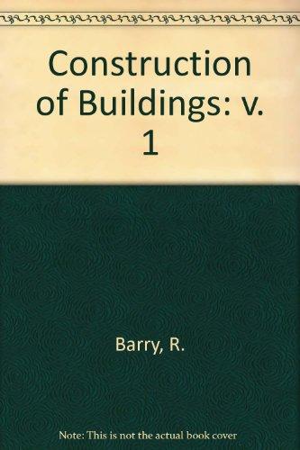 9780003832488: Construction of Buildings: v. 1