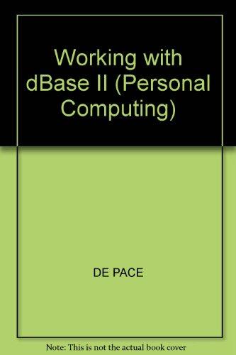 9780003832518: Working with Dbase II
