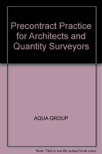 9780003832549: Precontract Practice for Architects and Quantity Surveyors