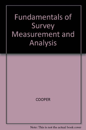 9780003833324: Fundamentals of Survey Measurement and Analysis