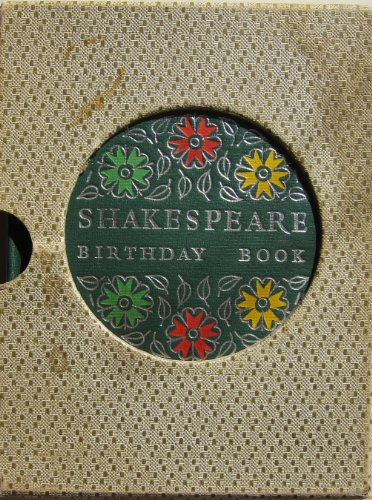 9780004101231: Shakespeare Birthday Book (Windsor Birthday Books)