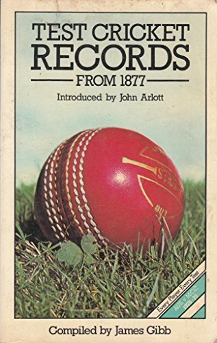 9780004116907: Test Cricket Records from 1877