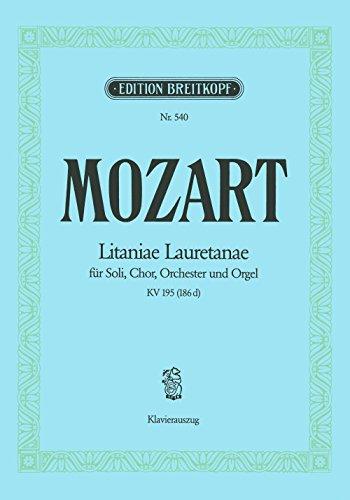 9780004160238: EDITION BREITKOPF MOZART WOLFGANG AMADEUS - LITANIAE LAURETANAE KV 195 - PIANO Classical sheets Piano