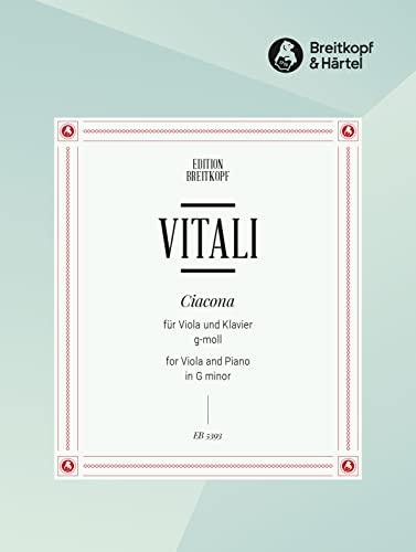 9780004164014: EDITION BREITKOPF VITALI TOMMASO - CHACONNE G-MOLL - VIOLA, PIANO Classical sheets Viola
