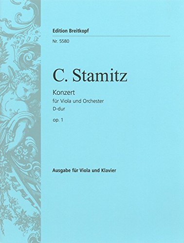 9780004164472: EDITION BREITKOPF STAMITZ C. - VIOLAKONZERT D-DUR - ALTO, PIANO Partition classique Cordes Alto