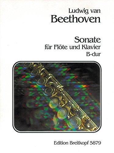 9780004165110: BEETHOVEN - Sonata en Sib Mayor para Flauta y Piano (Hess)
