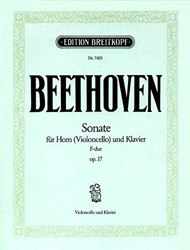 9780004173894: Partition classique EDITION BREITKOPF BEETHOVEN L.V. - SONATE FA MAJEUR OP. 17 - VIOLONCELLE, PIANO Violoncelle