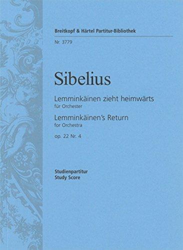 9780004201627: EDITION BREITKOPF SIBELIUS JEAN - LEMMINKAINEN OP. 22/4 - ORCHESTRA Classical sheets Full score