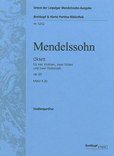 9780004211855: EDITION BREITKOPF MENDELSSOHN-BARTHOLDY F. - OCTET OP. 20 - 4 VIOLIN, 2 VIOLA, 2 CELLO Classical sheets String ensemble