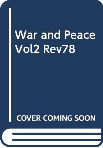 9780004246680: War and Peace Vol2 Rev78