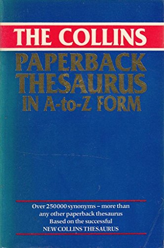 9780004330143: The Collins Paperback Thesaurus in A-Z Form