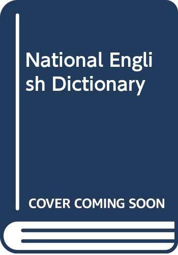 9780004330723: National English Dictionary