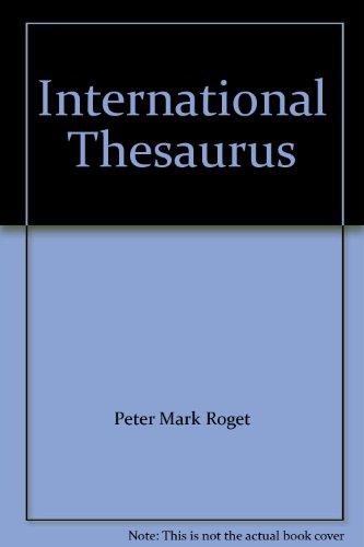 9780004331775: International Thesaurus
