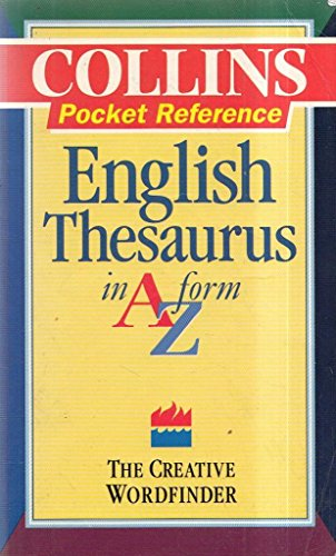 9780004332413: Collins Pocket Reference Thesaurus: In A-Z Form