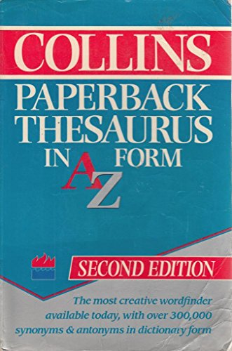 9780004332468: Collins Paperback Thesaurus: In A to Z Form