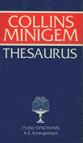 9780004333915: Collins GEM English Mini Thesaurus (Collins Gems)