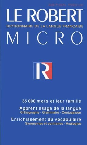 9780004334080: Le Robert Micro: Dictionnaire de la langue Français (Dictionary)