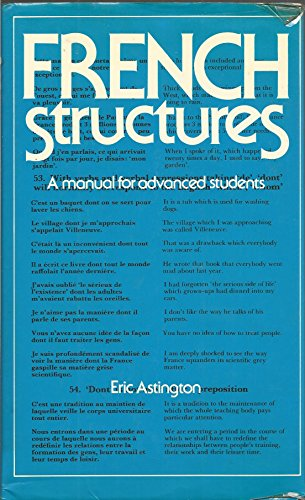 9780004334493: French Structures: A Manual for Advanced Students
