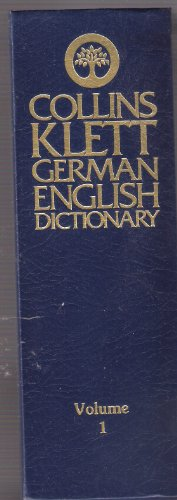 9780004334622: The Collins-Klett German Dictionary: German-English v. 1