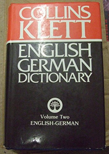9780004334639: The Collins-Klett German Dictionary: English-German v. 2