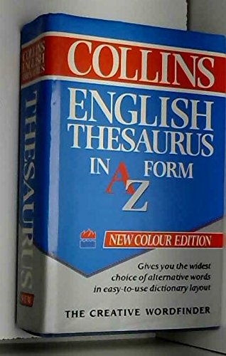 9780004336350: Collins English Thesaurus in A-Z Form