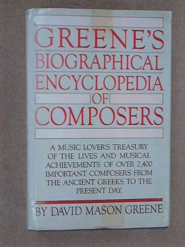 9780004343631: Biographical Encyclopaedia of Composers