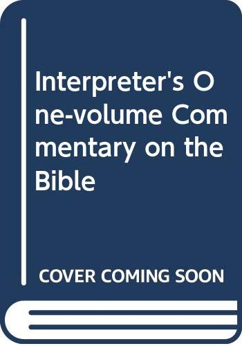 9780004345673: Interpreter's One-volume Commentary on the Bible