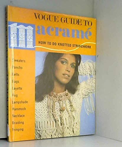 9780004350844: Vogue guide to macrame