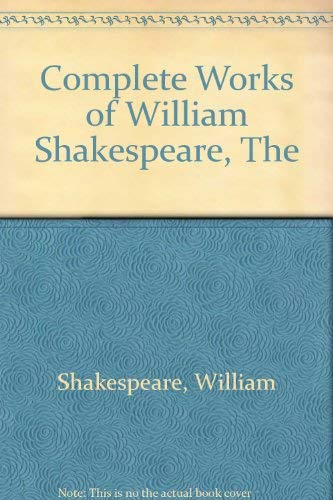 9780004356341: William Shakespeare the complete works