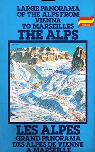 9780004472485: Hallwag Panoramic Map of Alps