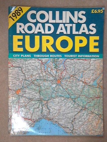 9780004476278: Collins Road Atlas: Europe: 1988