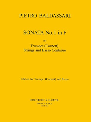 9780004482170: Sonata Nr. 1 in F - Ausgabe für Trompete und Klavier (MR 1526a)