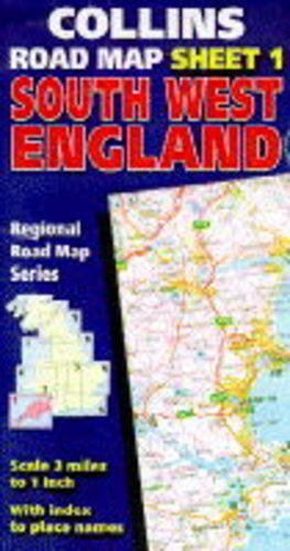 9780004482743: South-west England (Collins Regional Road Map)