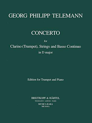 9780004484341: MUSICA RARA TELEMANN GEORG PHILIPP - CONCERTO IN D - TRUMPET, PIANO Classical sheets Trumpet