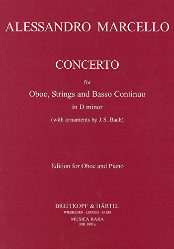 9780004484853: Concerto for Oboe, Strings and Basso continuo in D minor