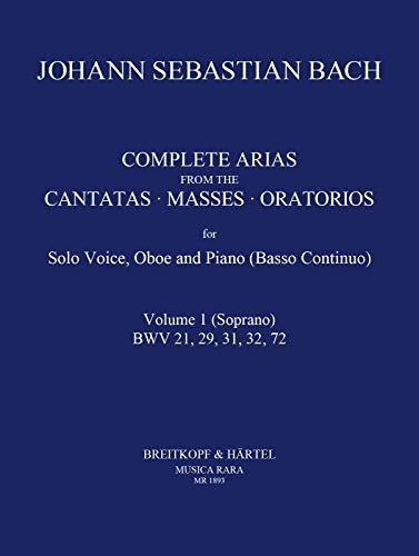 9780004484884: Sämtliche Arien für Sopran, Oboe, Bc (Klavier) Band 1 (BWV 21, 29, 31, 32, 72) (MR 1893)