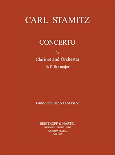 9780004484921: MUSICA RARA STAMITZ CARL - KLARINETTENKONZERT IN ES - CLARINET, ORCHESTRA Classical sheets Clarinet