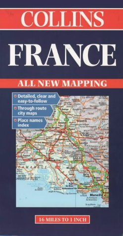 9780004486222: Collins France Road Map (Collins European road map)